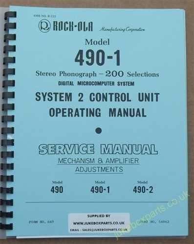 Rock-Ola 490, 490-1, 490-2 Manual (1985-86)