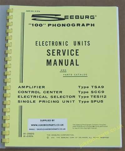 Seeburg SL100 & ESL100 Carnival Electronic Units Service Manual & Parts (1973)