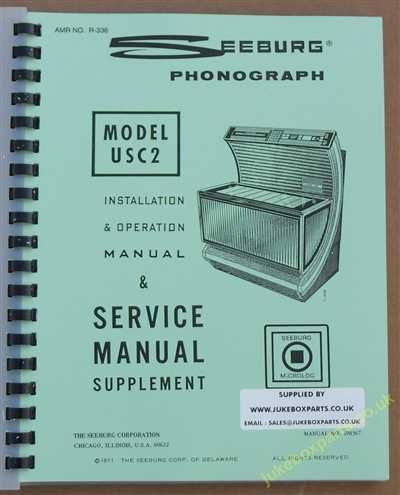 Seeburg USC2 Firestar Bandshell Manual (1971-72)