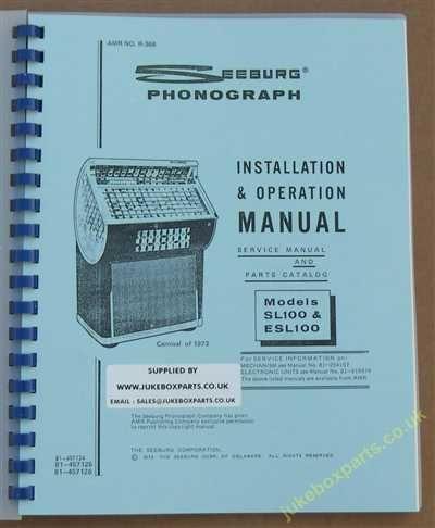 Seeburg SL100 & ESL100 Carnival Manual (1973)