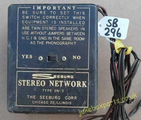 Seeburg Cross Over Network Type SN-3 (SB296)