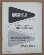 Rock-Ola Model 1765-2 Service Manual & Parts List (USM02)