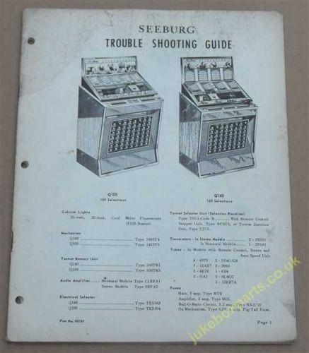 Seeburg Trouble Shooting Guide Q100 & Q160 (USM121)