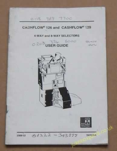 Cashflow 126 & 129 4-Way & 8-Way Selectors User Guide