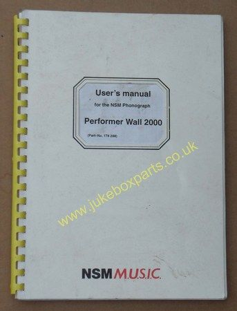 NSM Performer Wall 2000 Users Manual (USM149)