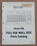 Rock-ola Model 508 Full Vue Wall Box Parts Catalog(USM164)
