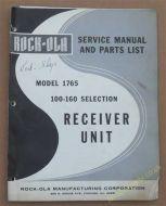 Rock-Ola Model 1765Service Manual & Parts List (USM165)