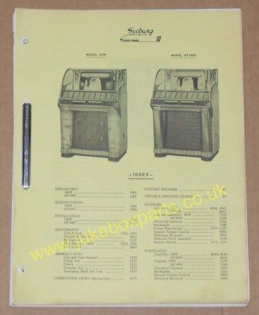 Seeburg Service Manual Models 100W, HF100G & HHF100G & Trouble Shooting Chart (USM211)