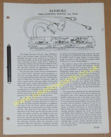 Seeburg Tormat Electrical Selector Type TES168 (USM224)