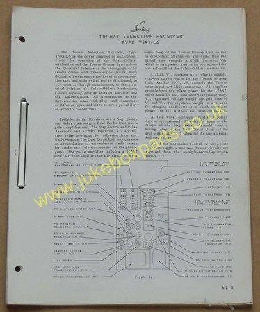 Seeburg Tormat Selection Receiver Type TSR1-L6 (USM229)