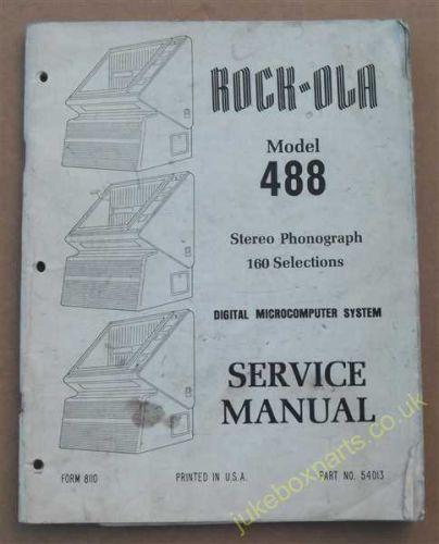 Seeburg Manual Select O Matic 100 Covers Mechanisms 145S2-L6 & 145S7L6 (USM246)