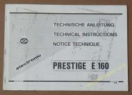 NSM Electronic Technical Instructions Prestige E160 (USM276)
