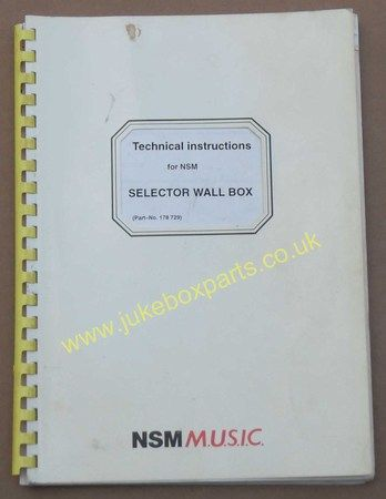 NSM Selector Wall Box Technical Instruction Manual & Parts List (USM332)