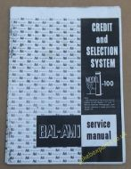 AMI I - 100 Credit & Selection System Service Manual & Parts Catalogue (USM400)