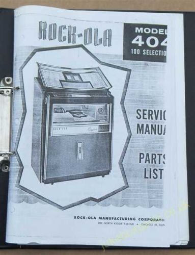 Rock-Ola 404 Capri (1963) Service & Parts Manual (USM57)