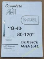 AMI Models G-40-80-120 Service & Parts Manual (USM59)