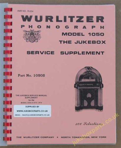Wurlitzer 1050 Service Supplement Manual (1973)