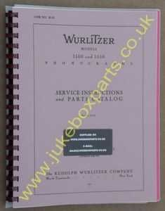 Wurlitzer 1500 & 1550 Service & Parts Manual