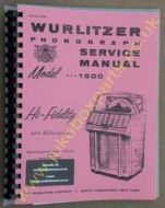Wurlitzer 1800 Service & Parts Manual