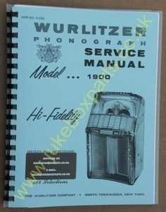Wurlitzer 1900 Service & Parts Manual