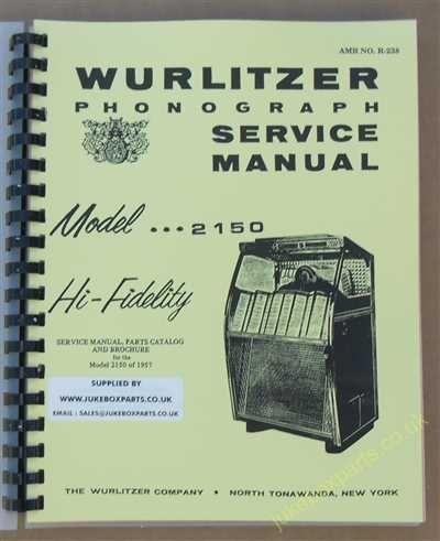 Wurlitzer 2150 Service & Parts Manual (1957)