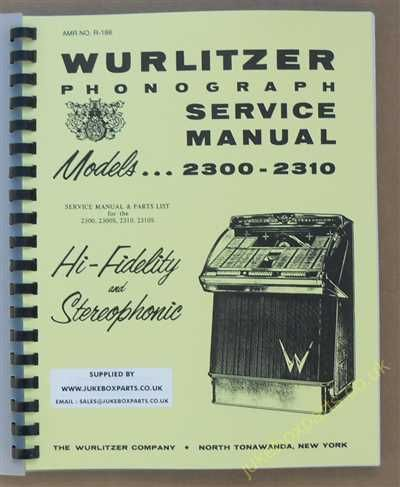 Wurlitzer 2300, 2300S, 2310 & 2310S Service & Parts Manual