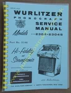 Wurlitzer 2304 & 2304S Service & Parts Manual