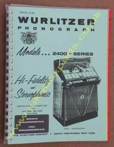 Wurlitzer 2400 Service & Parts Manual (1960)