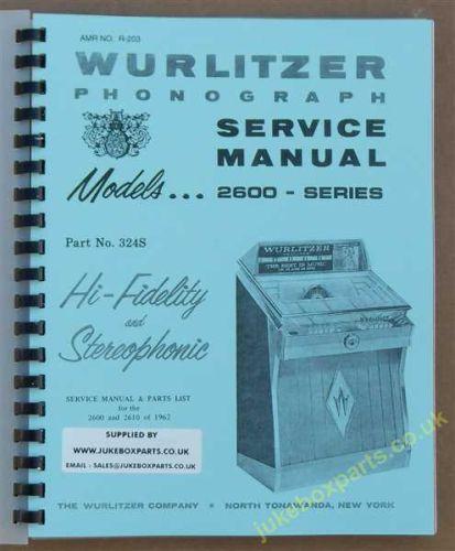 Wurlitzer 2600, 2610 Series Service & Parts Manual (1962)
