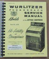 Wurlitzer 2700 & 2710 Service & Parts Manual (1963)