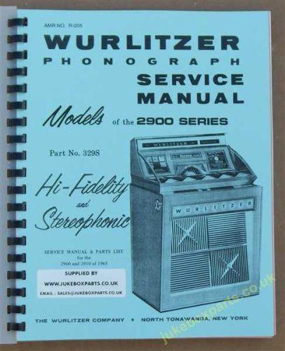 Wurlitzer 2900 & 2910 Service & Parts Manual (1965)