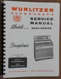 Wurlitzer 3200 Service & Parts Manual (1968)