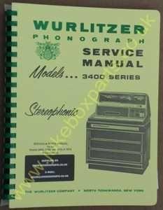 Wurlitzer 3400, 3460, 3410 Statesman Service & Parts Manual (1970)