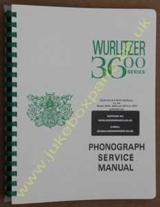 Wurlitzer 3600, 3660 & 3610 Service & Parts Manual (1972)