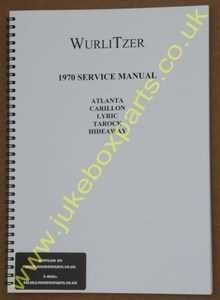 Wurlitzer 1970+ Atlanta, Carillon, Lyric, Tarock & Hideaway Service & Parts Manual